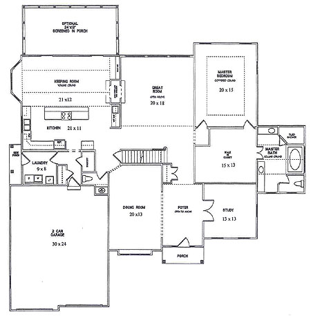 Medium image of first floor plan